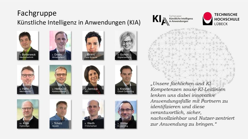 Fachgruppe Künstliche Intelligenz in Anwendunge...