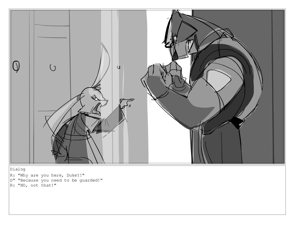 """Dialog R: """"Why are you here, Duke?!"""" D"""" """"Becaus..."""