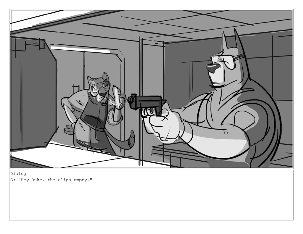 "Dialog G: ""Hey Duke, the clips empty."""