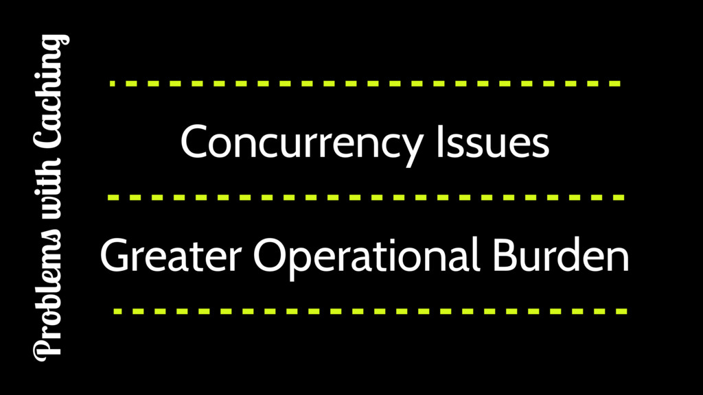 Concurrency Issues Greater Operational Burden P...