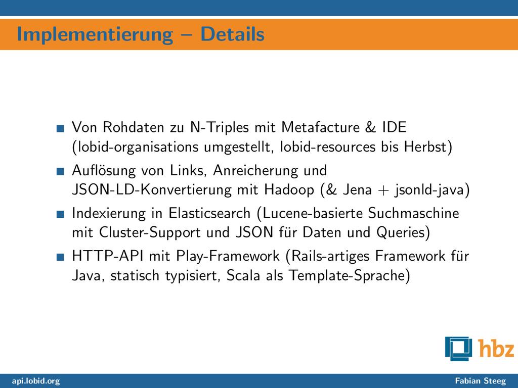 Implementierung – Details Von Rohdaten zu N-Tri...