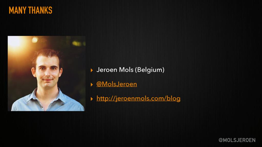 @MOLSJEROEN MANY THANKS ▸ Jeroen Mols (Belgium)...