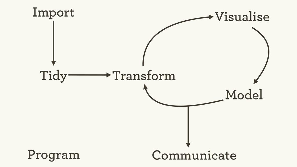 Tidy Import Visualise Transform Model Program C...