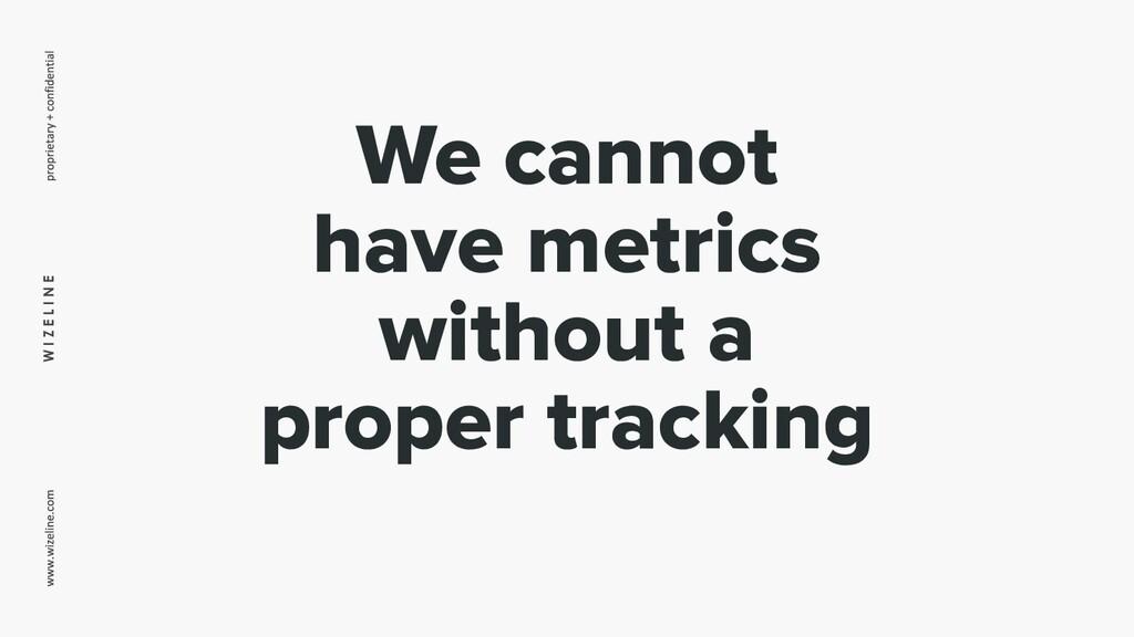 W I Z E L I N E We cannot have metrics without ...