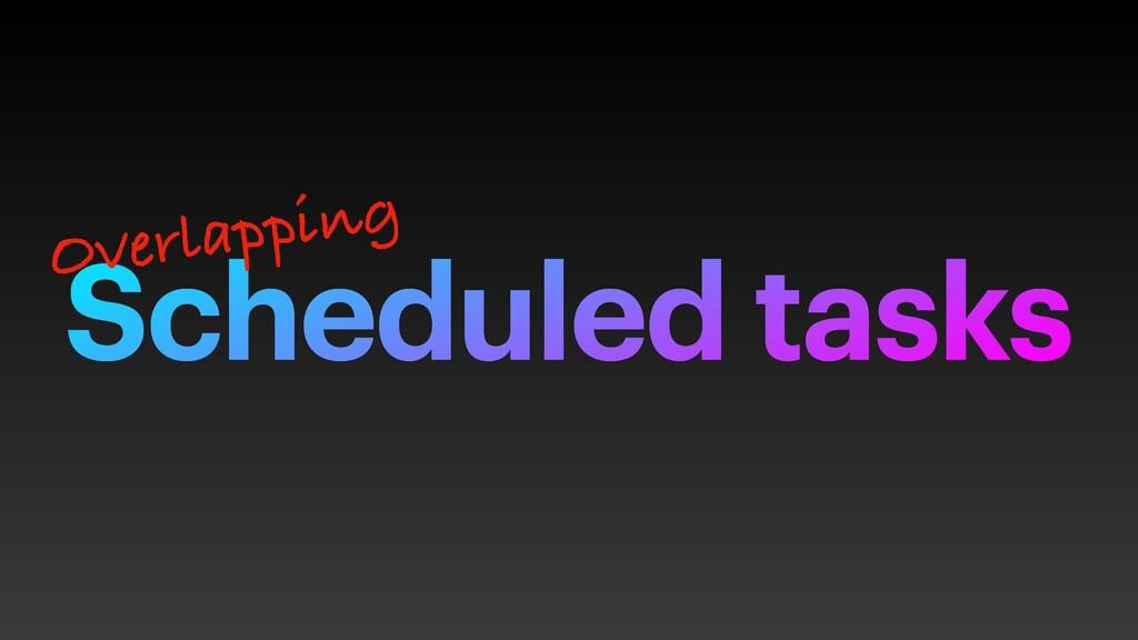 Scheduled tasks Overlapping