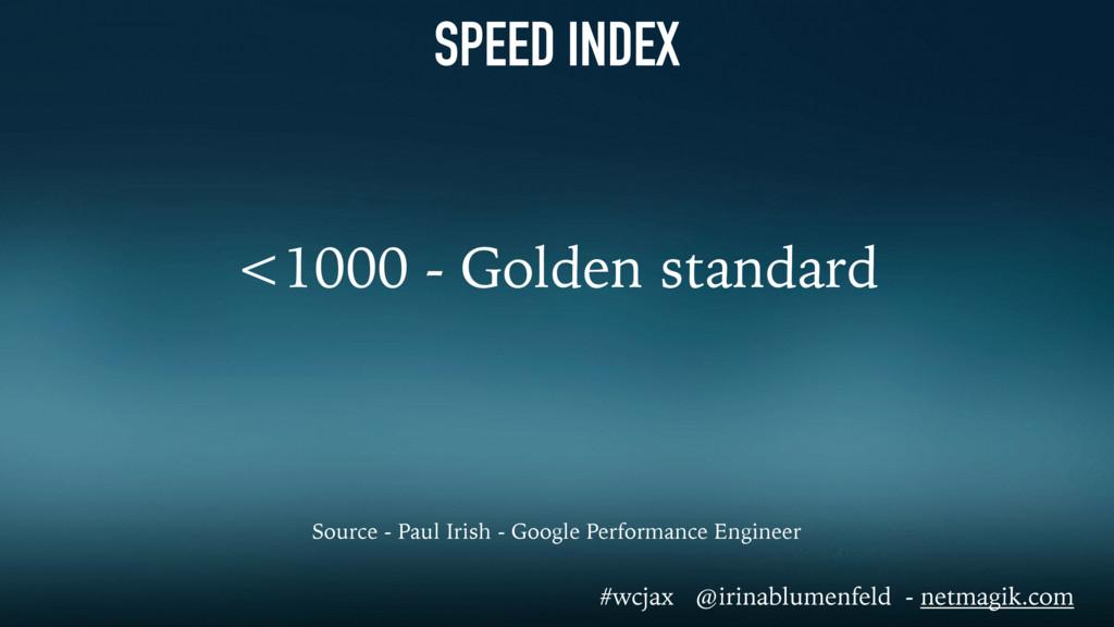 SPEED INDEX <1000 - Golden standard Source - Pa...