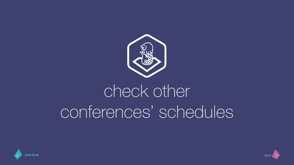 check other conferences' schedules > < next pre...