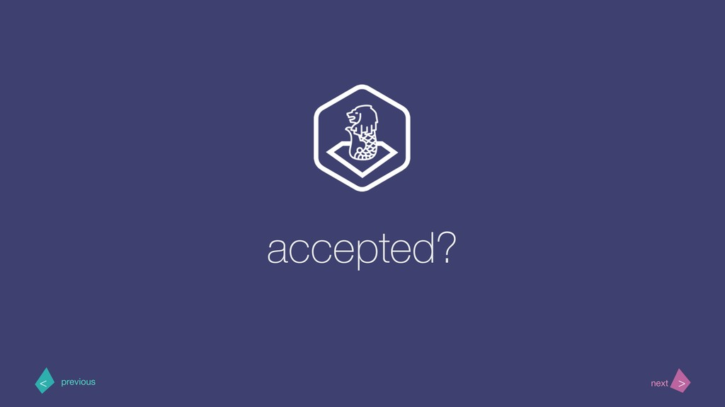 accepted? > < next previous