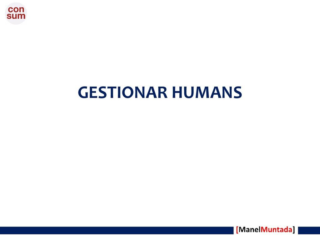 GESTIONAR HUMANS