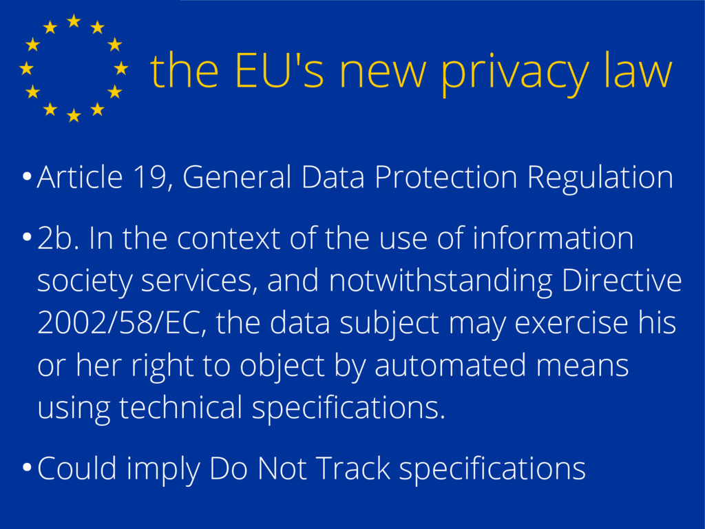 the EU's new privacy law ● Article 19, General ...