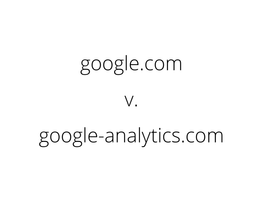 google.com v. google-analytics.com