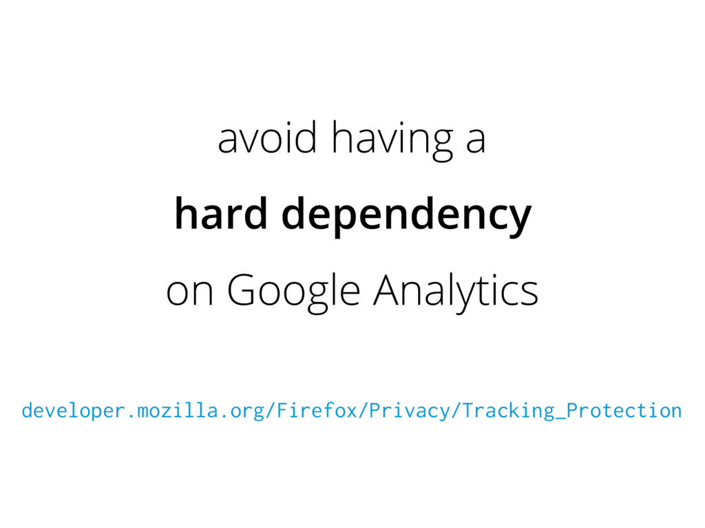 avoid having a hard dependency on Google Analyt...