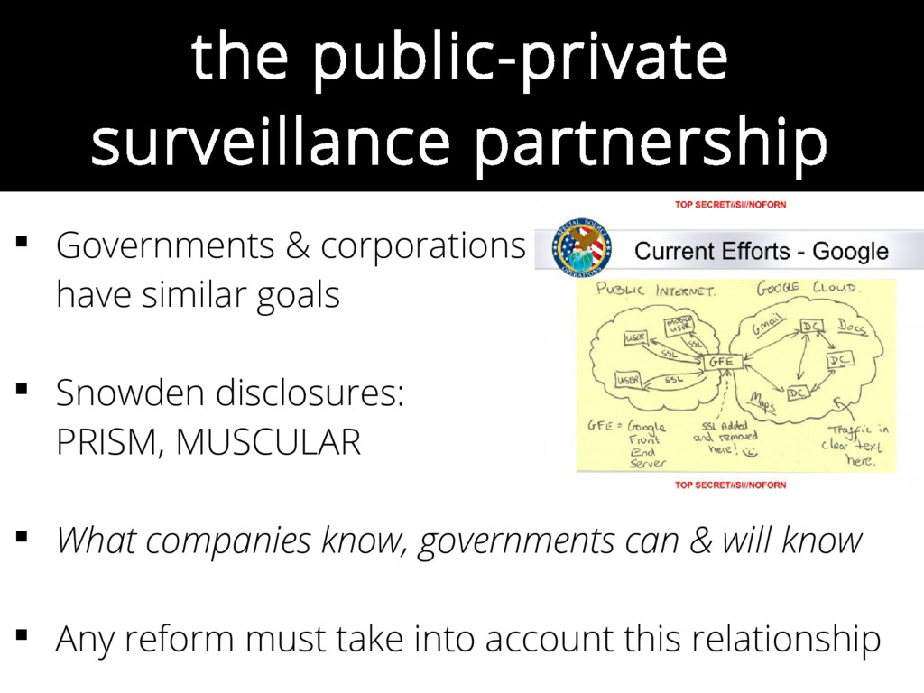the public-private surveillance partnership  G...