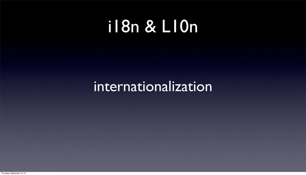 i18n & L10n internationalization Thursday, Sept...