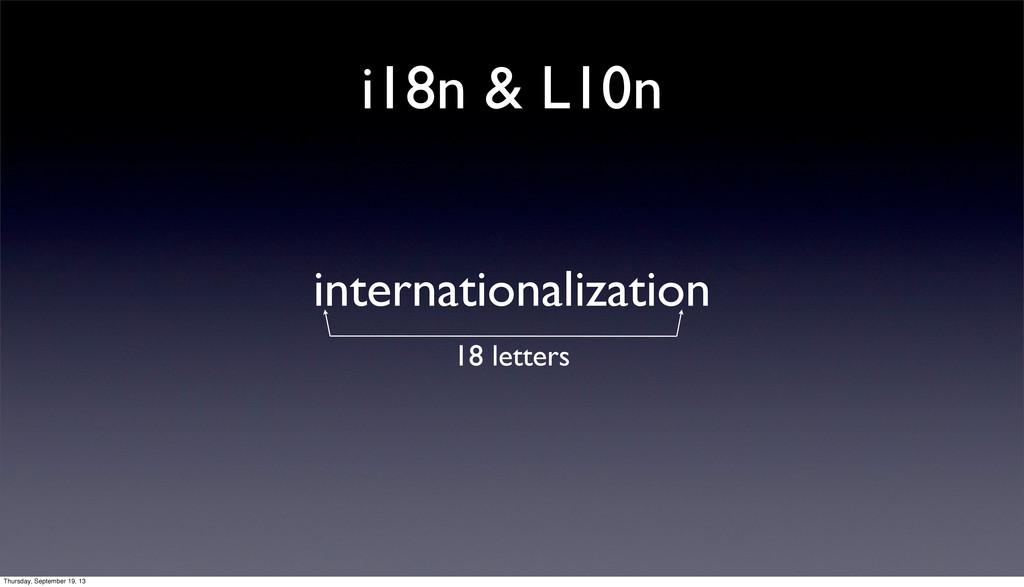 i18n & L10n internationalization 18 letters Thu...