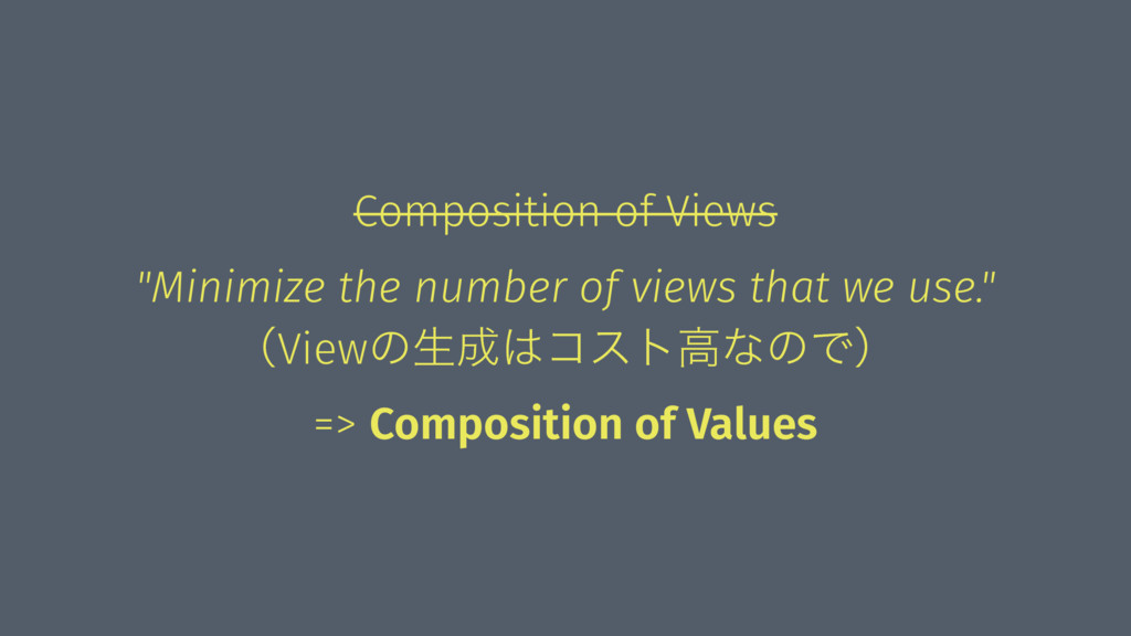 "Composition of Views ""Minimize the number of vi..."