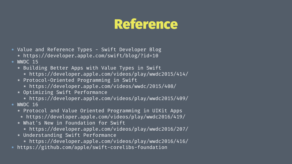 Reference * Value and Reference Types - Swift D...