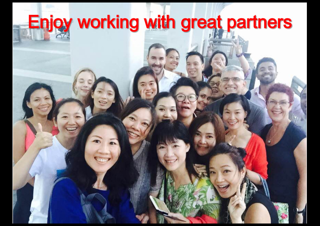 Enjoy working with great partners