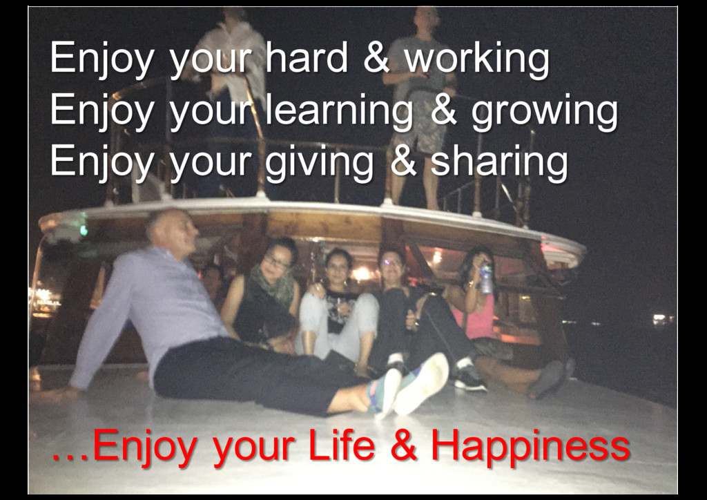 Enjoy your hard & working Enjoy your learning &...
