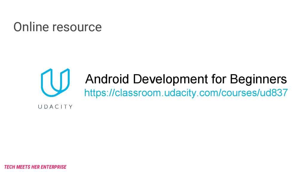 Online resource Android Development for Beginne...