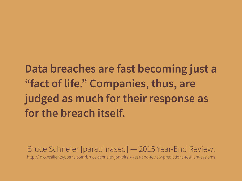 "Data breaches are fast becoming just a ""fact of..."