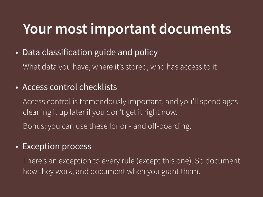 Your most important documents • Data classifica...