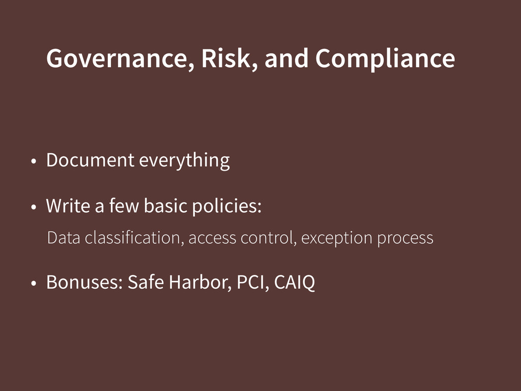 Governance, Risk, and Compliance • Document eve...