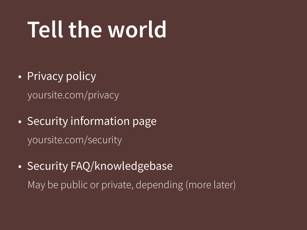 Tell the world • Privacy policy yoursite.com/pr...