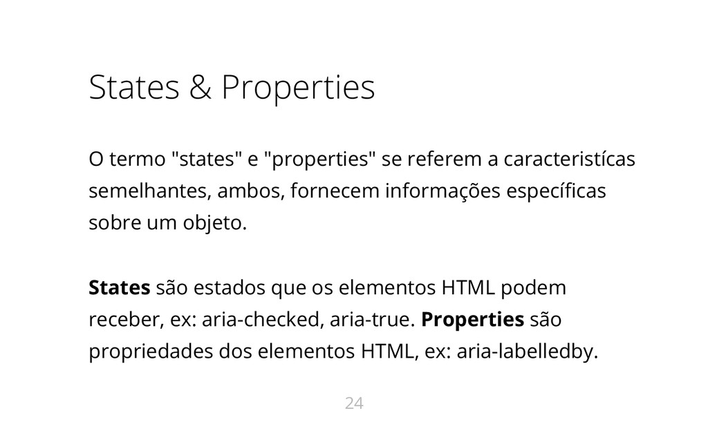 "States & Properties O termo ""states"" e ""propert..."