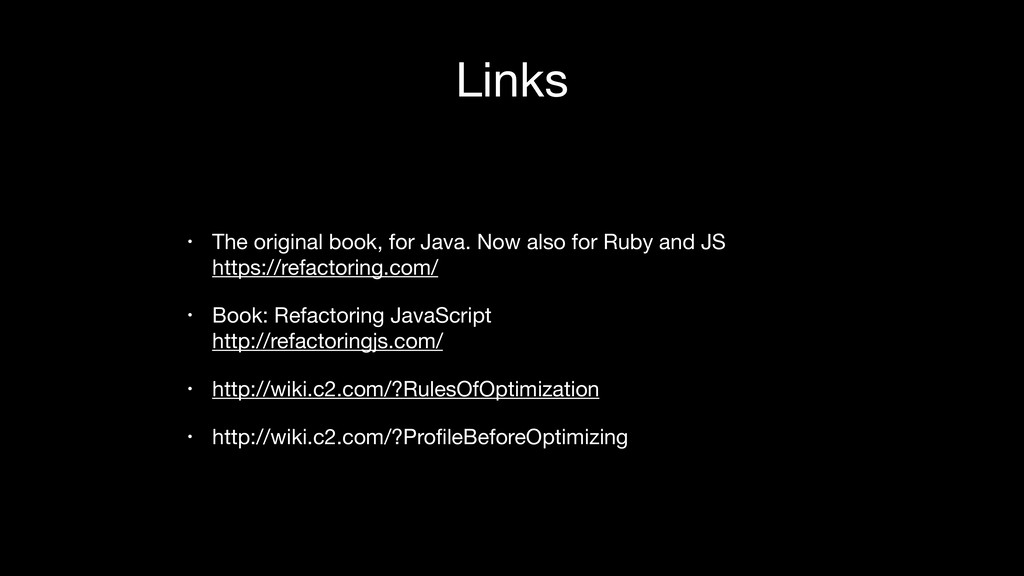 Links • The original book, for Java. Now also f...