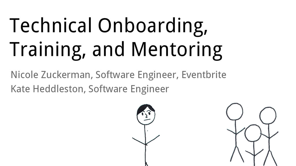 Technical Onboarding, Training, and Mentoring N...