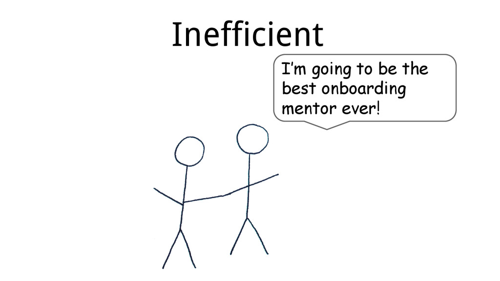 Inefficient I'm going to be the best onboarding...