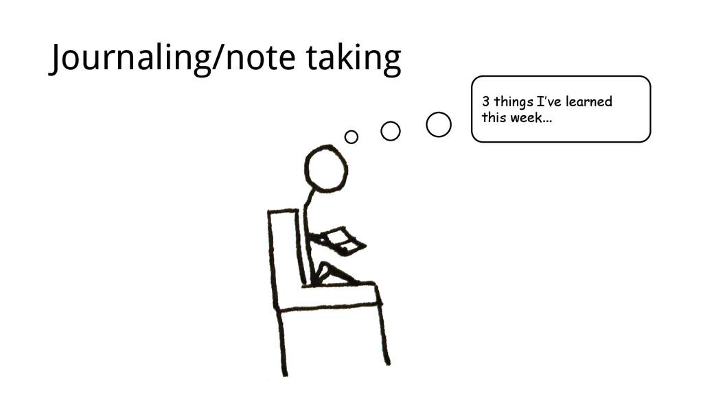 3 things I've learned this week... Journaling/n...