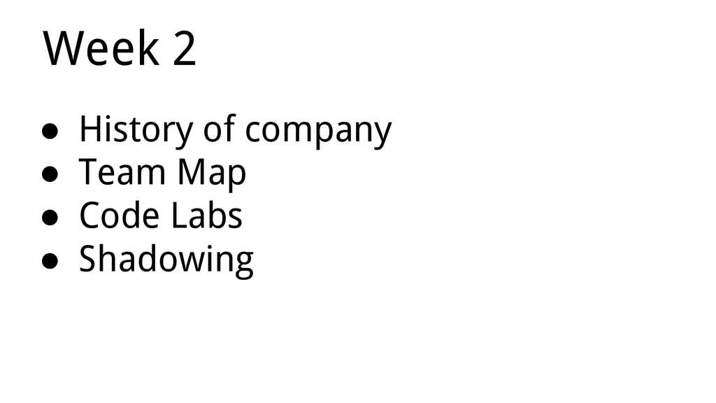 ● History of company ● Team Map ● Code Labs ● S...