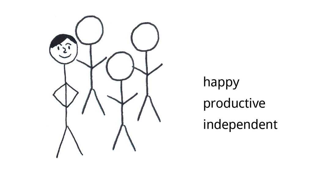 happy productive independent