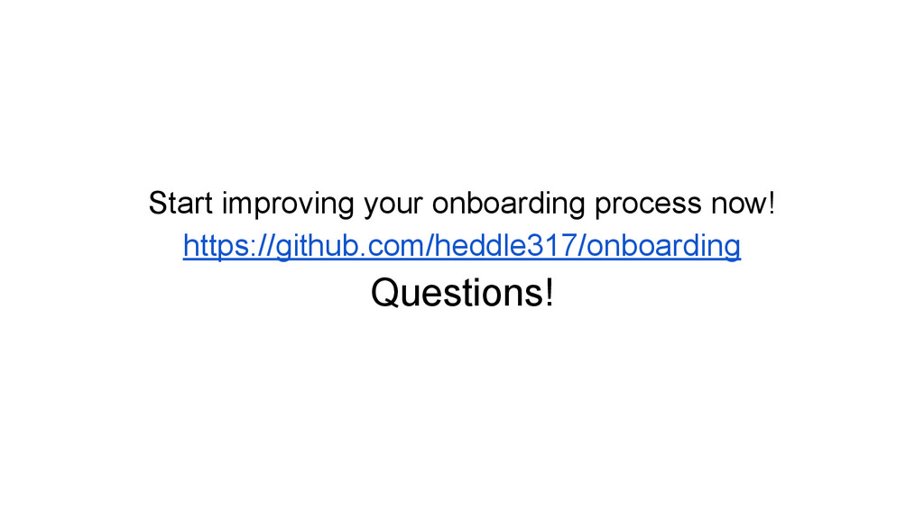 Start improving your onboarding process now! ht...