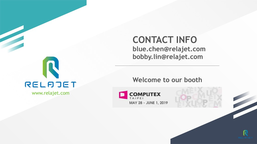 www.relajet.com CONTACT INFO blue.chen@relajet....