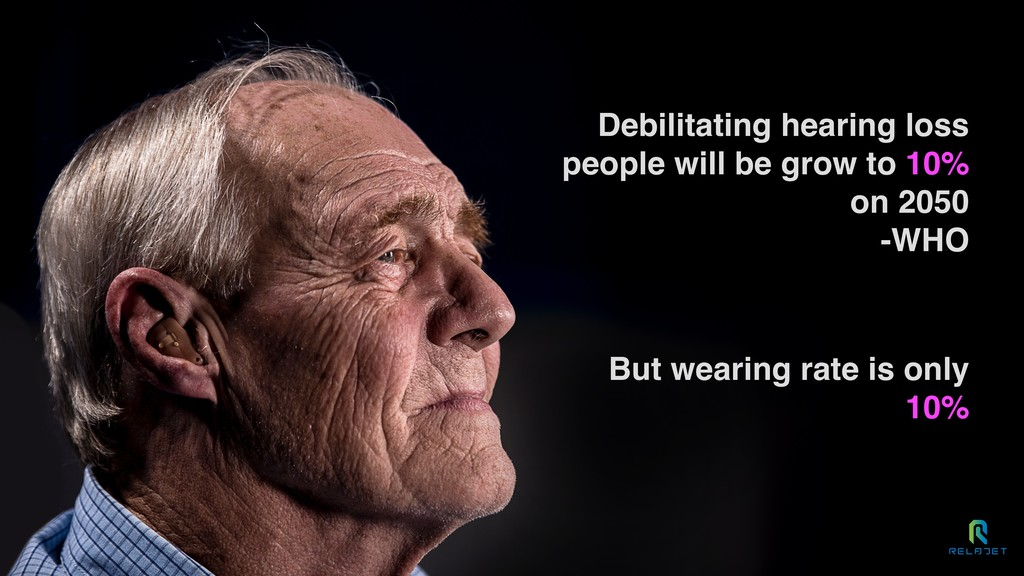Debilitating hearing loss people will be grow t...