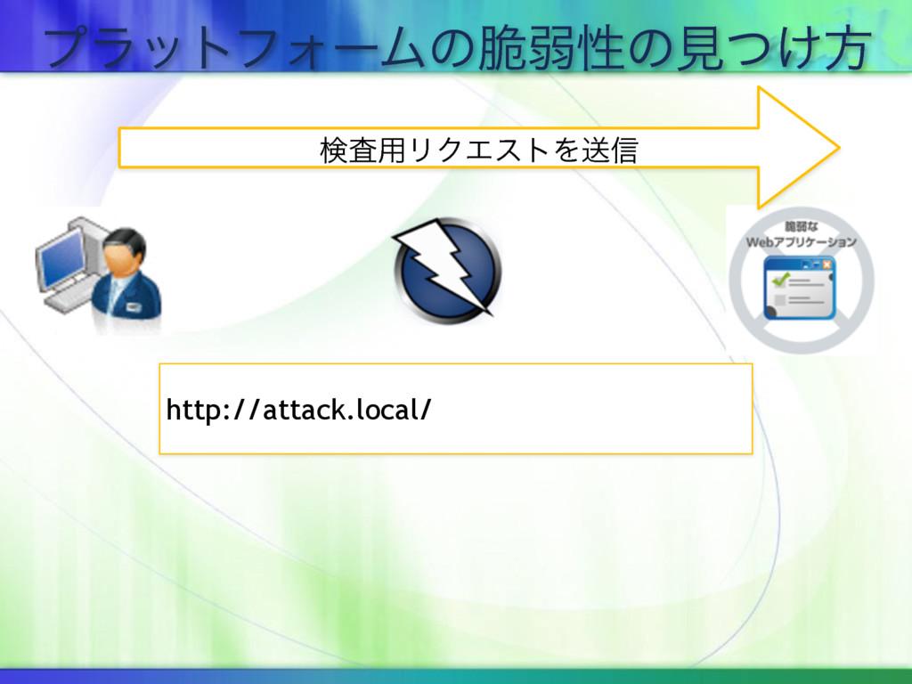 ϓϥοτϑΥʔϜͷ੬ऑੑͷݟ͚ͭํ ݕࠪ༻ϦΫΤετΛૹ৴ http://attack.loc...