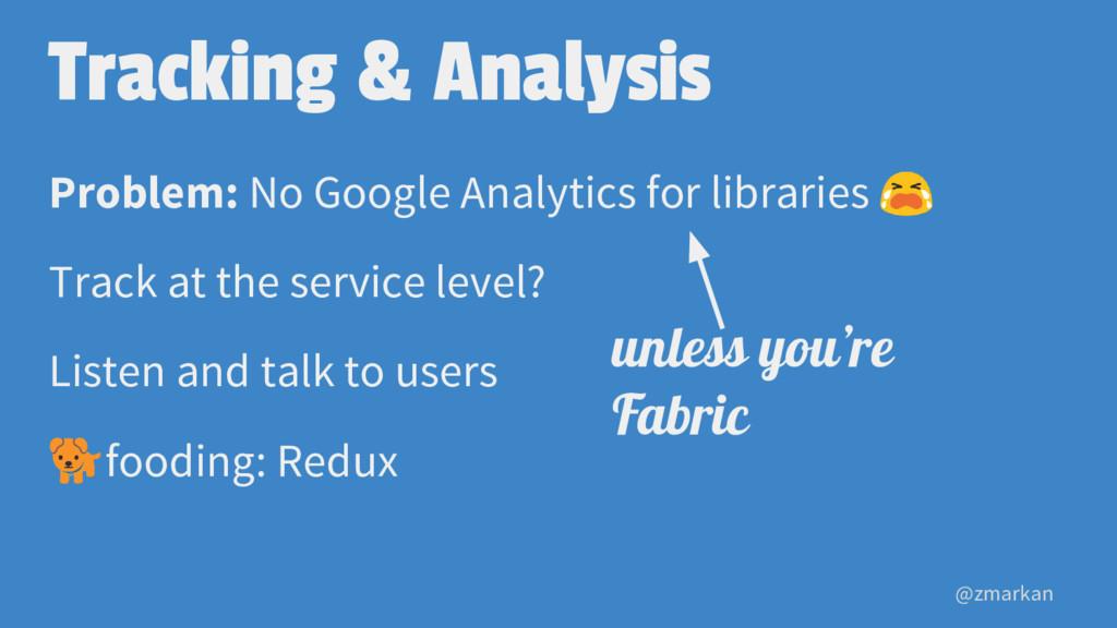 @zmarkan Tracking & Analysis Problem: No Google...