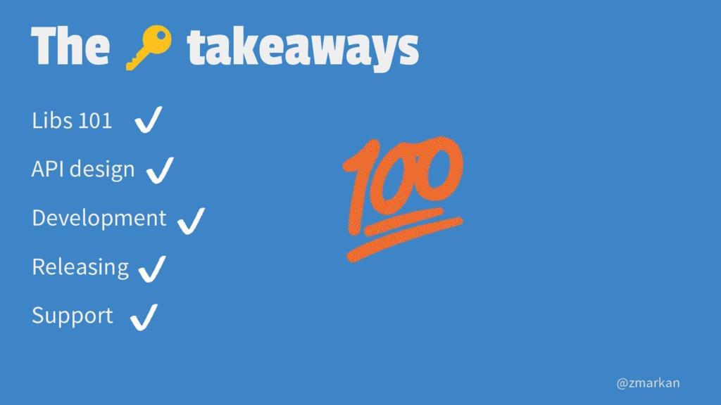 @zmarkan The takeaways Libs 101 API design Deve...