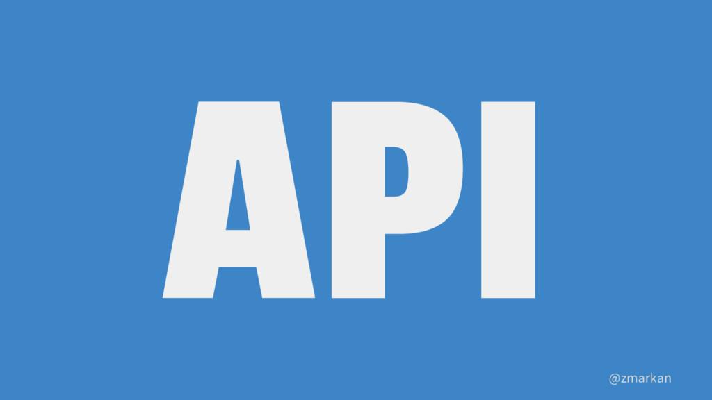 @zmarkan API