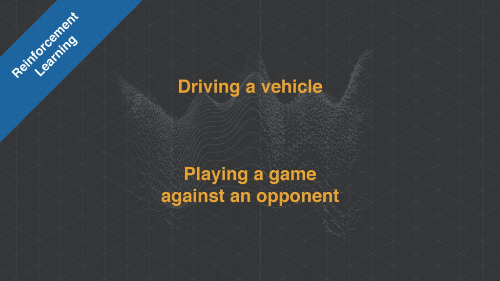 Driving a vehicle Playing a game against an op...