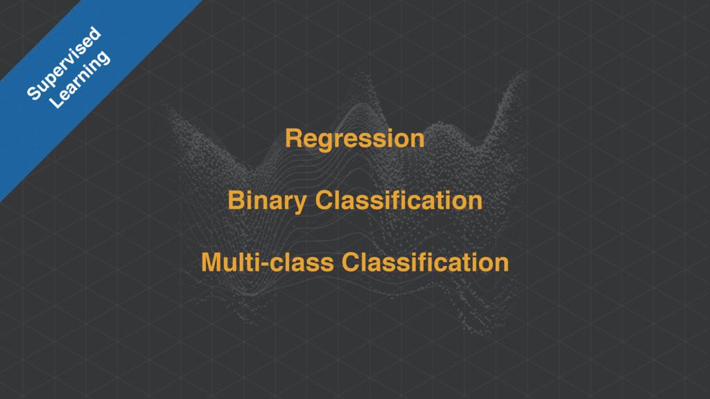 Regression Binary Classification Multi-class Cla...