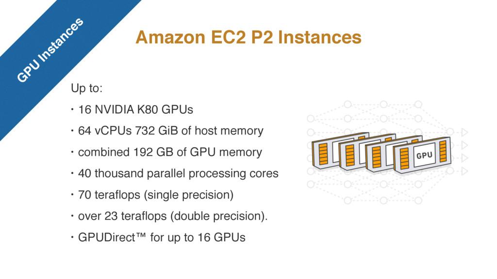 Amazon EC2 P2 Instances Up to: • 16 NVIDIA K80 ...