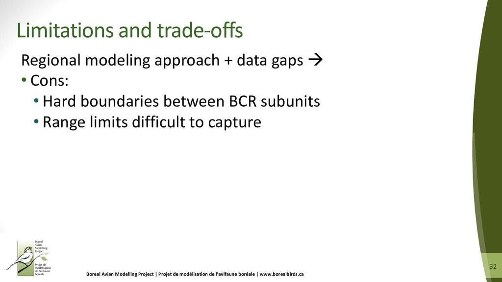 32 32 Regional modeling approach + data gaps à ...
