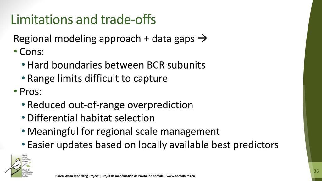 36 36 Regional modeling approach + data gaps à ...