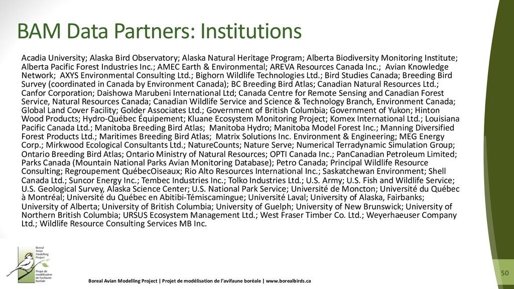 50 50 Acadia University; Alaska Bird Observator...