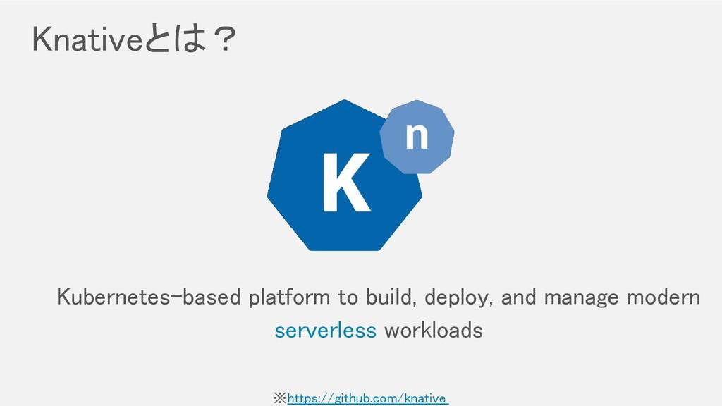 Knativeとは? Kubernetes-based platform to build,...