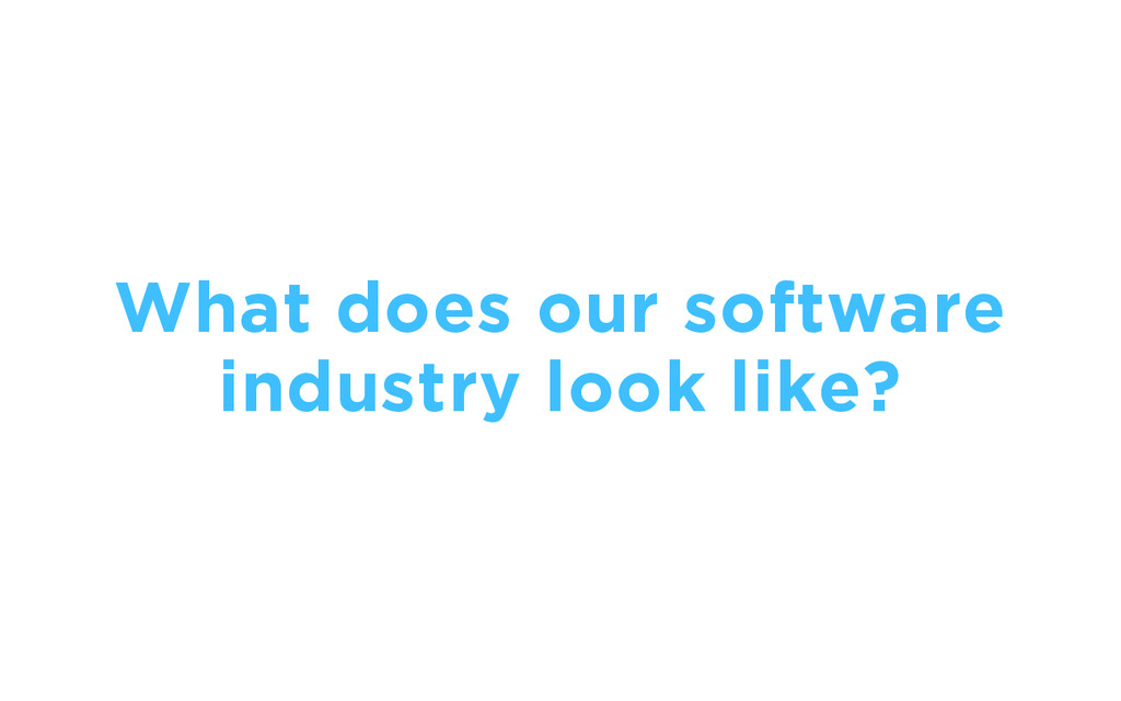 What does our software industry look like?